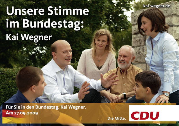 Wahlplakat CDU Wegner 2009
