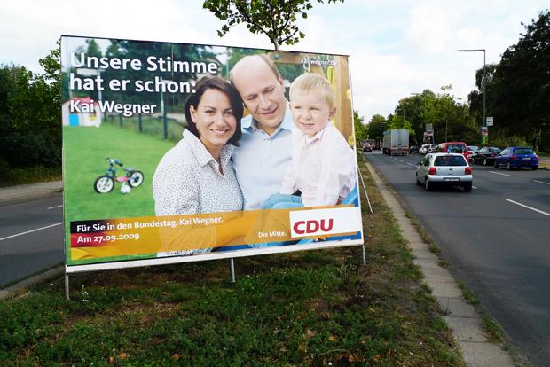Wahlplakat CDU / Wegner 2009