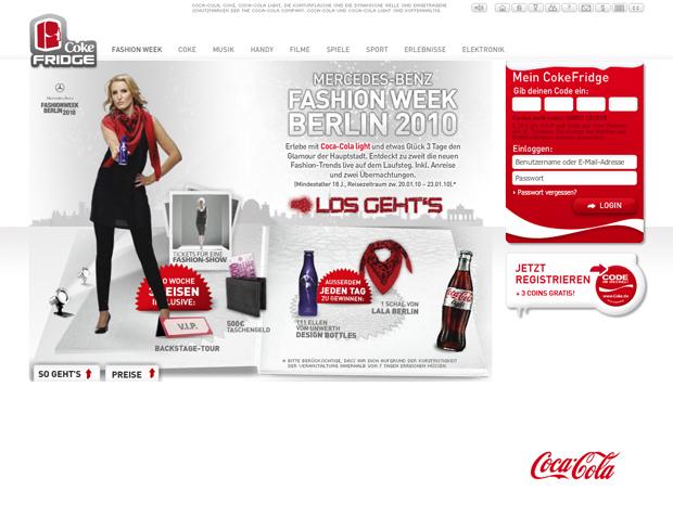 Coke Internetseite
