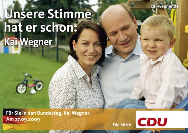Wahlplakat CDU Kai Wegner 2009