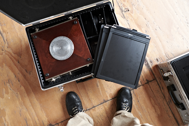 Kamera+Planfilmkassetten